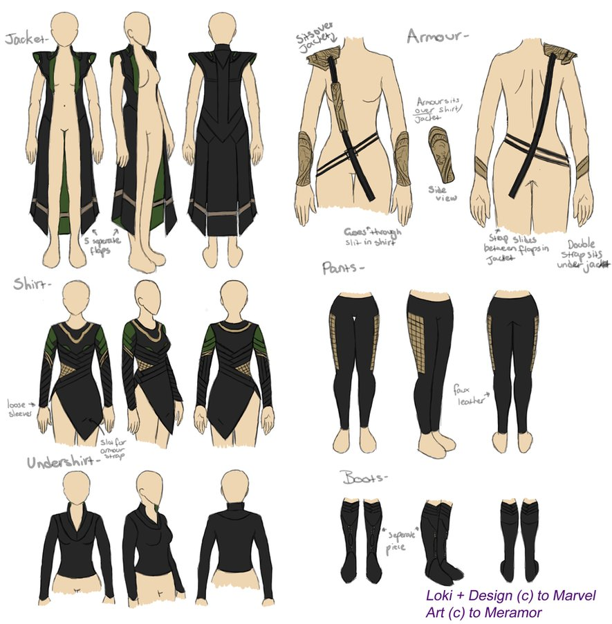 Character Costume Design Tutorial : Avengers loki cosplay reference library